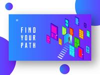 Find Your Path - Web Motion Concept