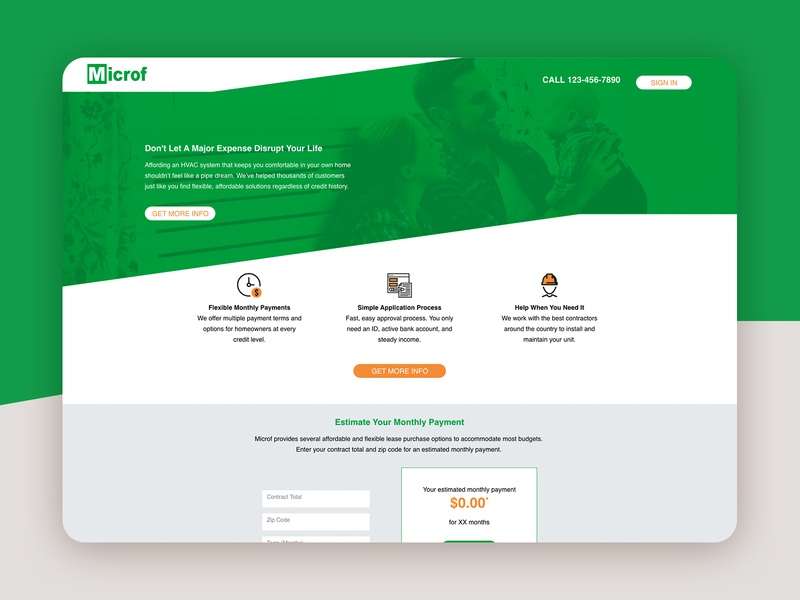 Microf Learn More Landing Page