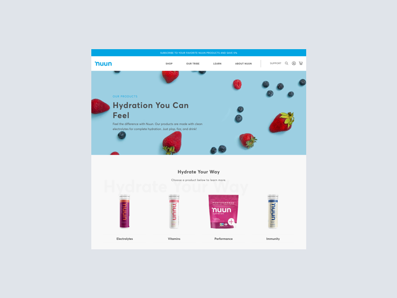 Nuun   eCommerce Experience cpg ecommerce lifestyle ux design