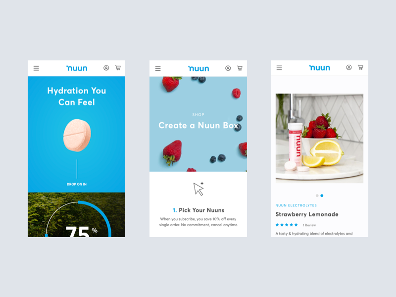 Nuun   eCommerce Experience shopify cpg ux ecommerce lifestyle design