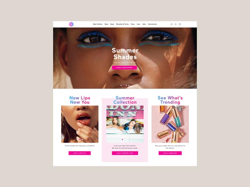 BH Cosmetics   eCommerce Experience ui ux shopify cosmetics design ecommerce