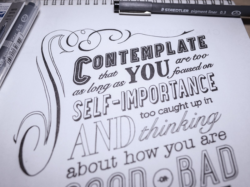 Contemplate  type typography ink