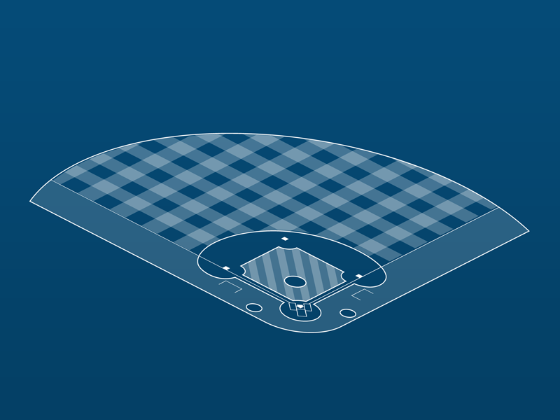 Isometric Baseball field isometric vector baseball