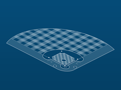 Isometric Baseball field