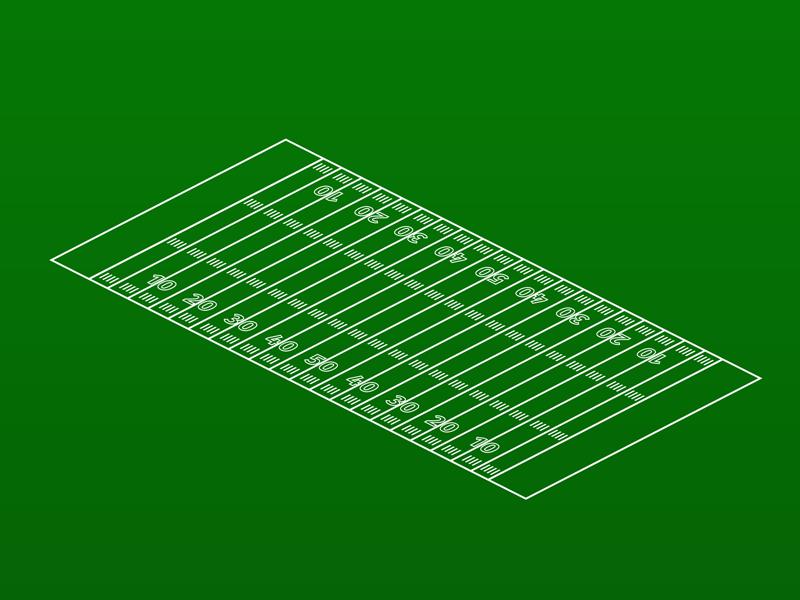 Isometric Football field illustration isometric vector football