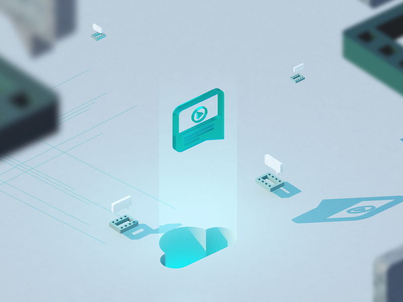Login screen graphic design techsmith 3d render 3d modeling 3d identity branding art direction