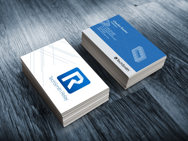 Relay Business card techsmith relay graphic design printed media business card identity branding art direction