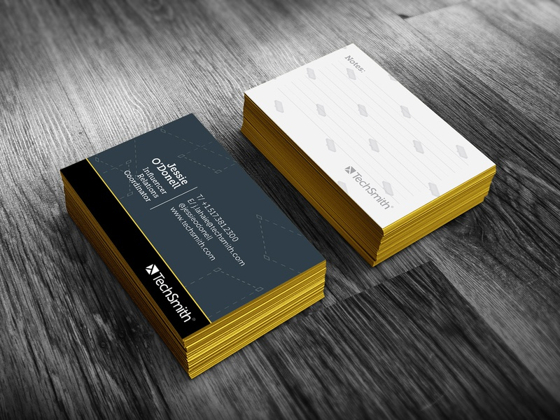 TechSmith Co. Business Card business card techsmith design graphic design identity corporate branding branding art direction