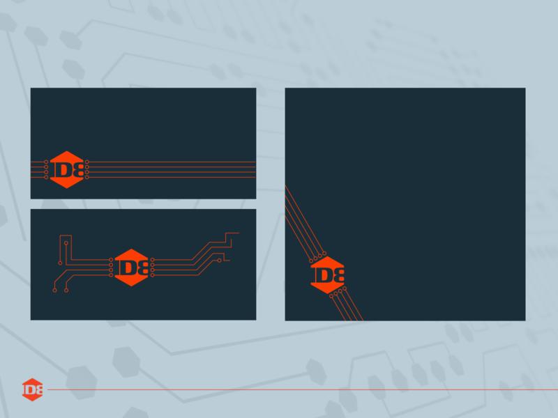 Logo flexibility id8 modular design design graphic design vector identity branding art direction logo