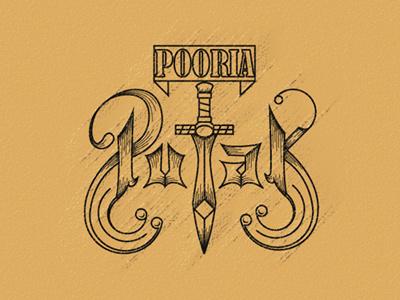 Pooria Putak hosseinyektapour 1ta logo brand mark retro pooria putak