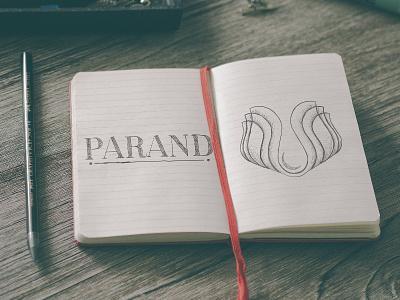 Parand pencil paper flower leaf mark sketch branding hosseinyektapour logo