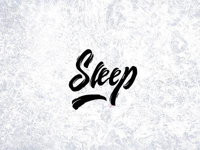 Sleep sleep typography calligraphy logotype insomnia