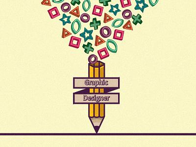 Graphic Designer star circle line pencil illustrator illustration design designer graphic yektapour hossein