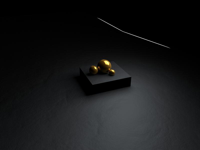 Gold light gold render cinema4d c4d yektapour hossein