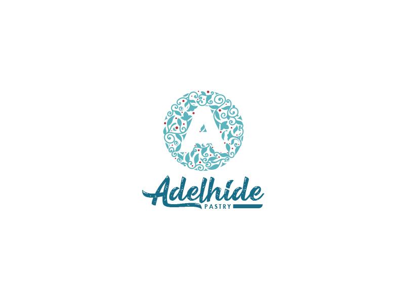 Adelhide Pastry logotype typo cake pastry adelhide monogram letter a logo