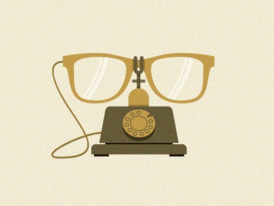 Telecommunication hossein yektapour 1ta poster illustration typography telecommunication glasses