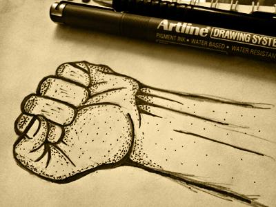 Hand hossein yektapour 1ta illustrator hand drawing