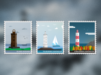 Lighthouses of Petersburg / Stamps