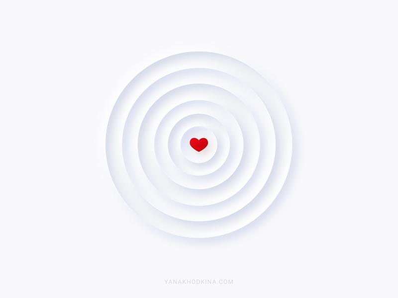 Love light red concept love heart white illustration vector