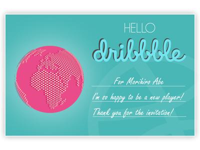 Hello Dribbble! invitation hello shot first debut