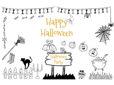 Happy Halloween vector illustration funny card october party halloween