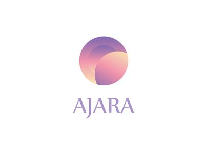 Logo AjArA illustrator photoshop lilac gradient pink circle logotype logo