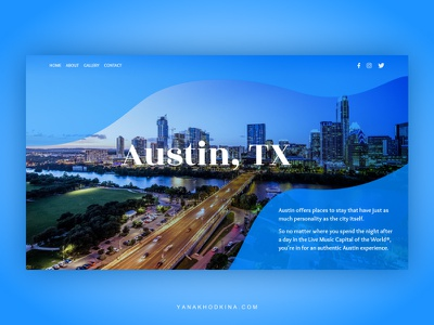 the main page design gradient town blue main screen main page main