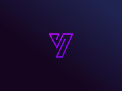 Logo Y gradient design logo vector