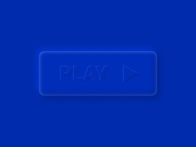 Play button. Created in Figma. ui soft blue figma button play