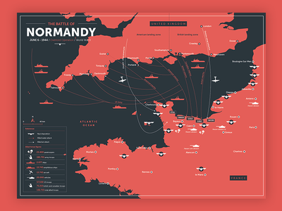 Battle of Normandy poster normandy inphographics poster