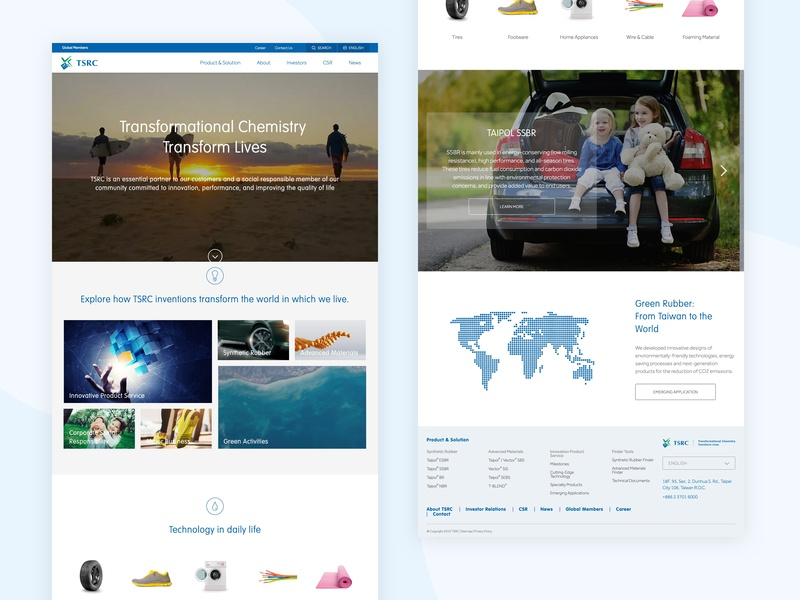 Tsrc Website Revamp revamp digital transformation branding ux web ui graphic design