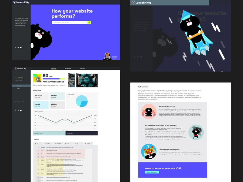 Launchkitty launch cat mascot vector web ui ux illustration design