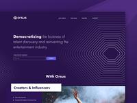 Orsus cryptocurrency crypto landingpage graphic design web