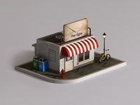 C4d Model Post Office Cabin