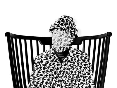 DEVO wip sketch illustration white black chair pattern devo