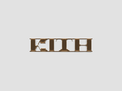 KITH BOX LOGO CONCEPT chrome gold slab serif lettering typography illustration logotype fashion streetwear design branding ali adams logo design logo kith