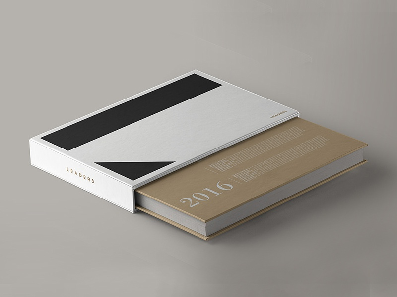 Leaders Project identity brand branding cover editorial book politics leaders