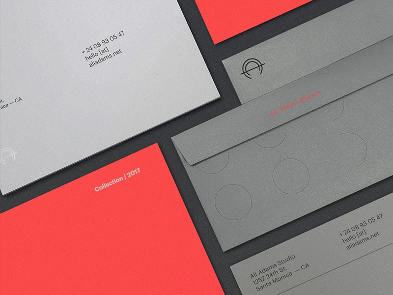 Ali Adams Brand Identity - Stationary personal portfolio ali adams identity brand branding brand identity stationary