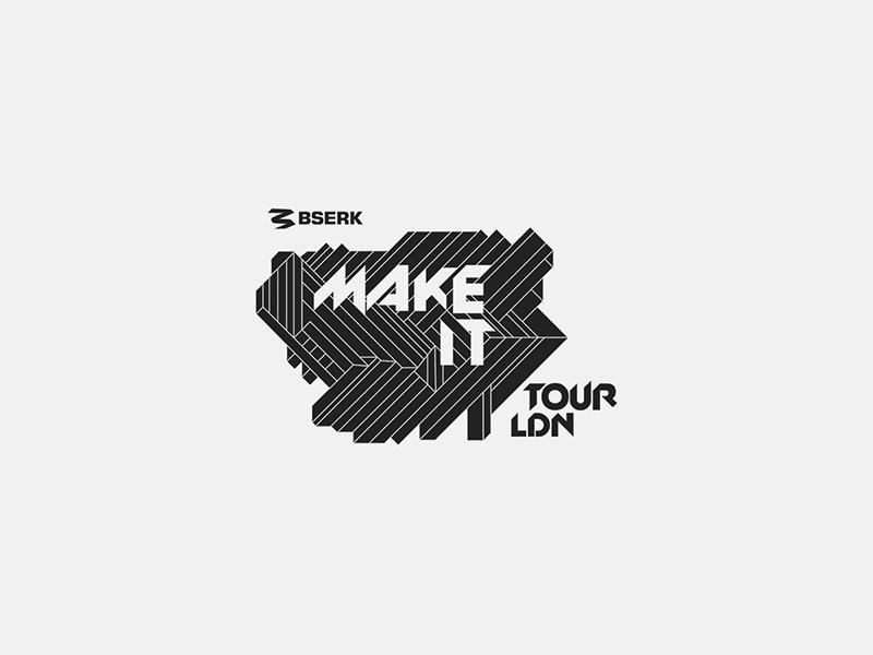 Bserk Make IT Tour bserk sports tour design logo portfolio web website digital branding ali adams
