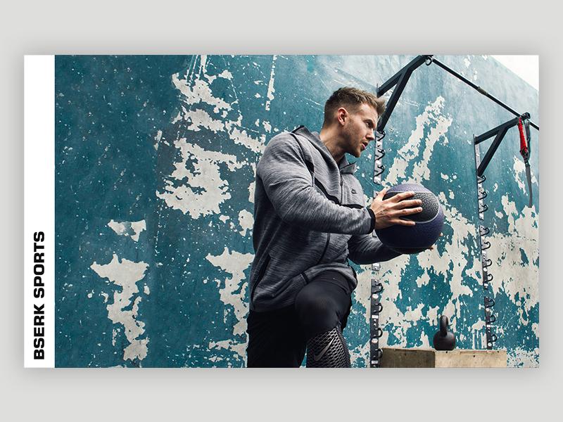 Bserk Sports Identity - Poster bserk sports workout gym design logo portfolio web website digital branding ali adams