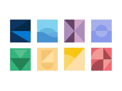 Material Shapes Exploration illustration icon icon design icons material design google design material shapes branding ali adams