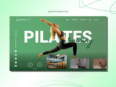 Pilates Webdesign Interface interface pilates animation ui