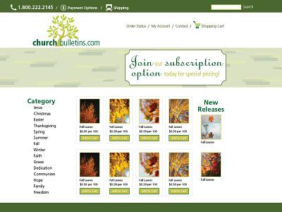 Church Bulletin Supply eCommerce Site web design logo design branding uxui design