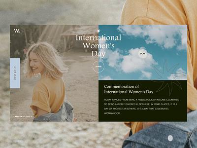 IWD 2020 ✶ Commemoration of International Women's Day Pt.2 homepage design typedesign womens day women empowerment elsalvador user experience design iwd2020 user interface design eddesignme