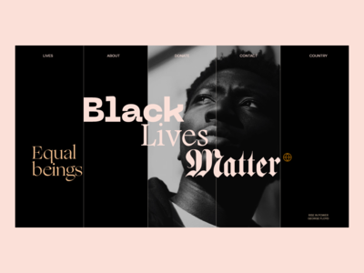 Black Lives Matter el salvador homepage design page layout product page case study black lives matter product design eddesignme interaction design user experience user interface