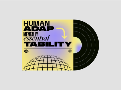 Adaptability — Vinyl Cover mentally humanity simplicity brand identity el salvador eddesignme monogram logo concept art lettering vinyl cover