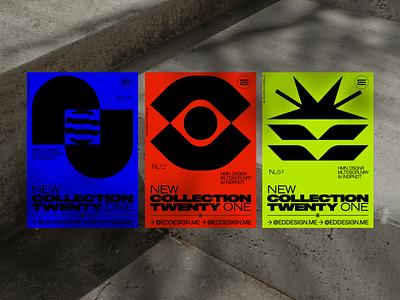 NCTO ⤷ MNGRMS 2021 PRINTS poster design print design concept art collection brand identity el salvador eddesignme logotype monograms