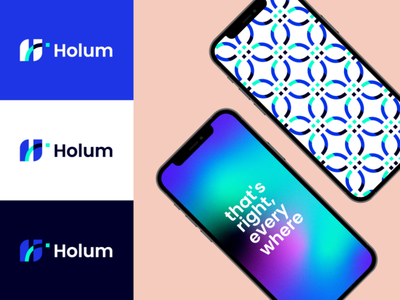 Holum logo design pitch deck user research user interface design user experience el salvador eddesignme driver app startup branding concept design brand identity holum