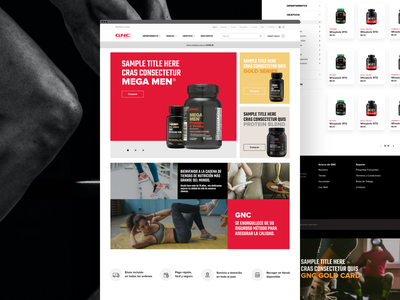 GNC Website clean ui clean design desktop design digital design training app fitness el salvador eddesignme user experience user interface webdesign gnc el salvador