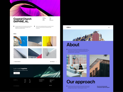 CDR — Website II version case study church builders church design el salvador eddesingme concept design interaction design user experience web design